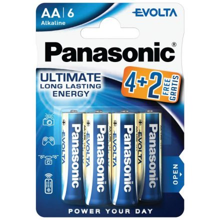 Panasonic Evolta AA LR6 Ceruza Elem x 6 db