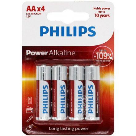 Philips Power Alkaline AA LR6 Ceruza Elem x 4 db