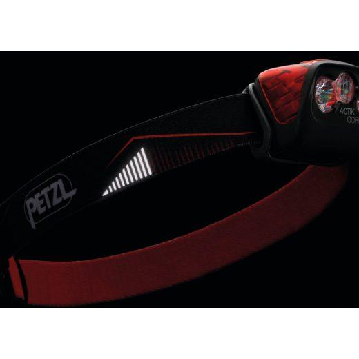 Petzl ACTIK CORE Fejlámpa - Piros - 450 lm