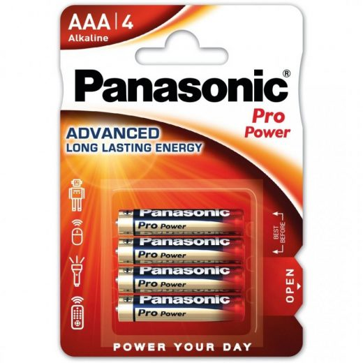 Panasonic Pro Power AAA LR03 Mikro Elem, 4 db