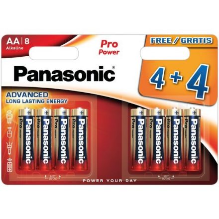 Panasonic Pro Power AA LR6 Ceruza Elem x 8 db