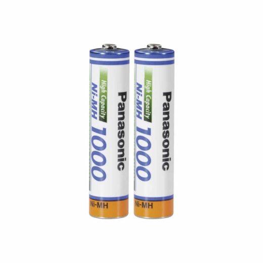 Panasonic High Capacity AAA 1000 mAh NiMH akkumulátor BK-4HGAE - 2 db