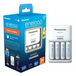 Panasonic Eneloop BQ-CC17 Töltő + 4 db AA Akkumulátor