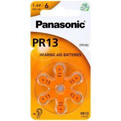 Panasonic PR13 Hallókészülék Elem, 6 db