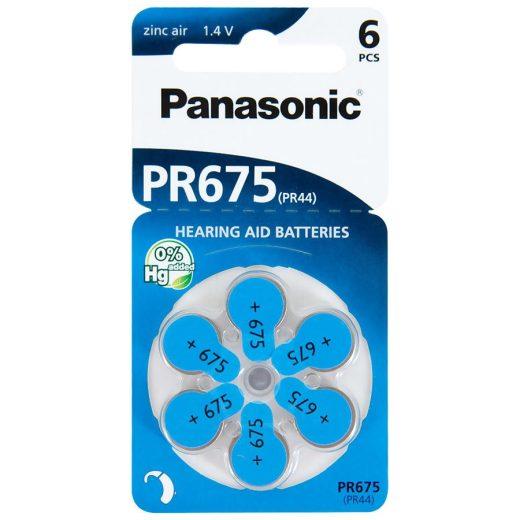 Panasonic PR675 Hallókészülék Elem, 6 db