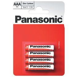 Panasonic Zinc Féltartós AAA Mikro Elem, 4 db