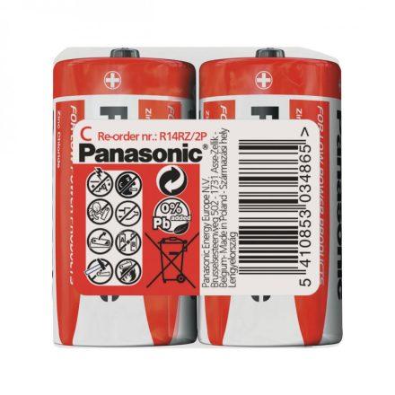 Panasonic Zinc Féltartós C Baby Elem, 2 db fóliában