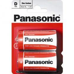 Panasonic Zinc Féltartós D Góliát Elem, 2 db