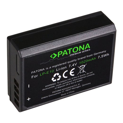 Canon LP-E10 akkumulátor - Patona Premium