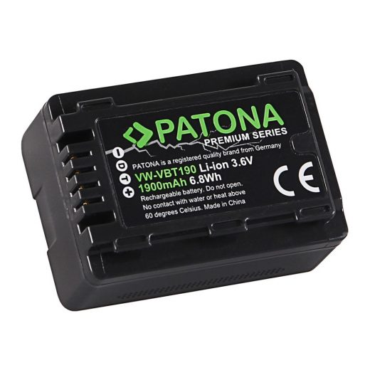 Panasonic VW-VBT190 akkumulátor - 3,6V 1900 mAh - Patona Premium