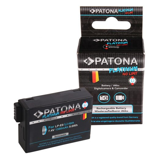 Canon LP-E8 LP-E8+ akkumulátor - Patona Platinum