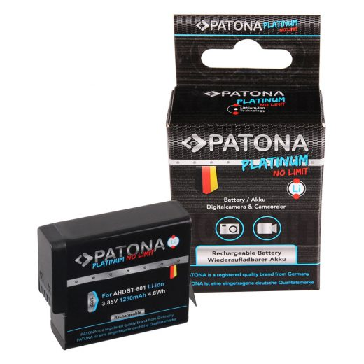 GoPro Hero 8, Hero 7, Hero 6, Hero 5 akkumulátor - Patona Platinum