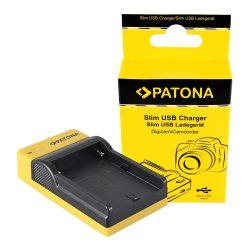 Sony Akkumulátor Töltő - NP-F970, 960, 950 - SLIM - micro-USB