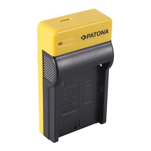 Sony NP-F970, 960, 950 Akkumulátor Töltő - Slim - micro-USB