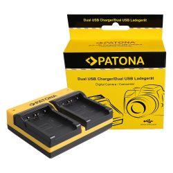 Sony NP-FT1 Akkumulátor Töltő - 2 Töltőhely - MicroUSB kábellel
