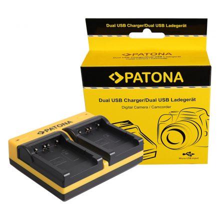 Sony Akkumulátor Töltő - NP-FT1 -  2 töltőhely - micro-USB