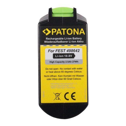 Festool 498642 - 10.8V 2500 mAh Li-Ion akkumulátor - Patona