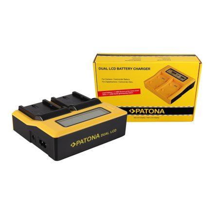 Canon Akkumulátor Töltő - BP-511, BP-512, BP-522 + USB - 2 töltőhely + LCD
