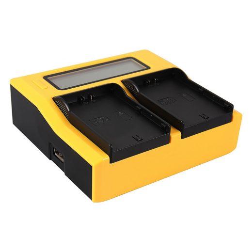 JVC SSL-75, HM600, HM650 Akkumulátor Töltő - 2 Töltőhely + USB