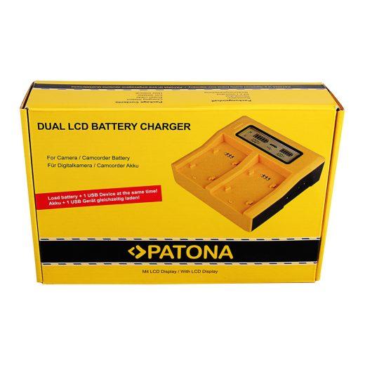 JVC Akkumulátor Töltő - SSL-75, HM600, HM650 + USB - 2 Töltőhely