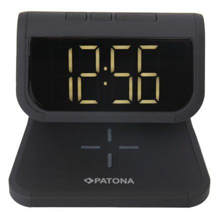 PATONA LCD Ébresztőóra Vezeték Nélküli Töltővel és UV Fertőtlenítővel