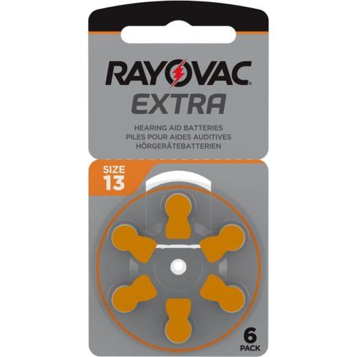 Rayovac Extra Advanced 13 Hallókészülék Elem, 6 db