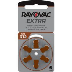 Rayovac Extra Advanced 312 Hallókészülék Elem, 6 db