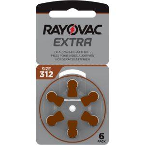 Rayovac Extra Advanced 312 Hallókészülék Elem x 6 db