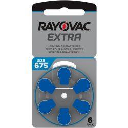 Rayovac Extra Advanced 675 Hallókészülék Elem, 6 db