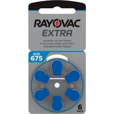 Rayovac Extra Advanced 675 Hallókészülék Elem x 6 db