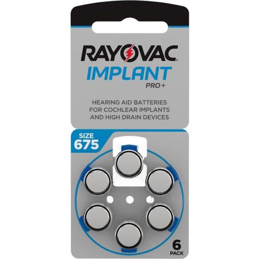 Rayovac Implant Pro+ 675 Hallókészülék Elem, 6 db
