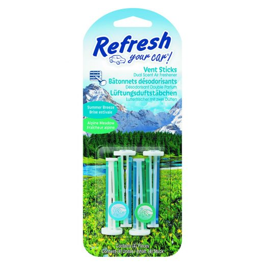 Refresh Your Car - Alpine Meadow & Summer Breeze - Autóillatosító Stick - 4 db