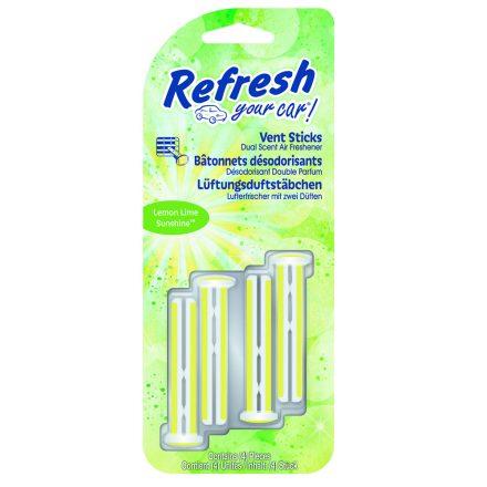 Refresh Your Car - Lemon Lime Sunshine - Autóillatosító Stick - 4 db