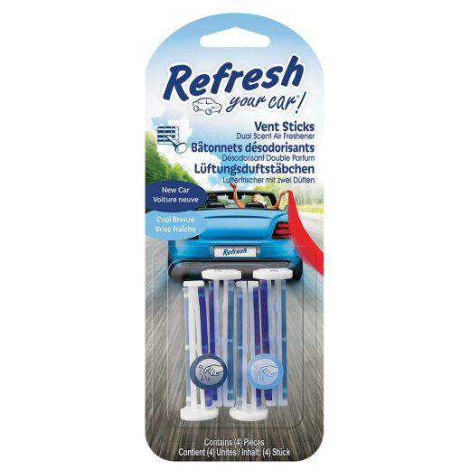Refresh Your Car - New Car & Cool Breeze - Autóillatosító Stick - 4 db