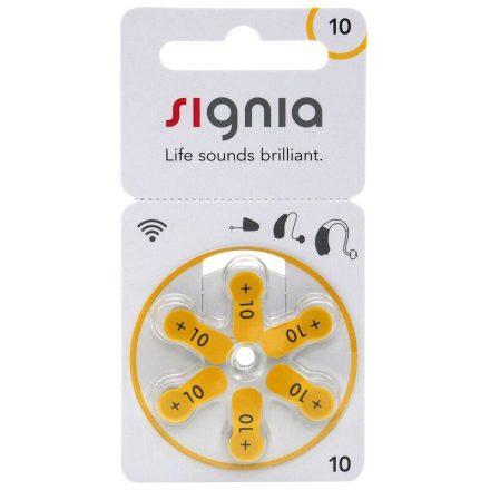 Siemens Signia 10 Hallókészülék Elem x 6 db