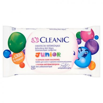 Cleanic Frissítő Törlőkendő Antibacterial Junior - 15 db