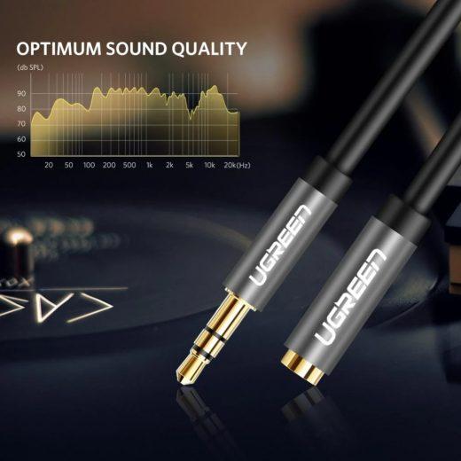 UGREEN Audio hosszabbító kábel - 3,5 mm jack - 1m