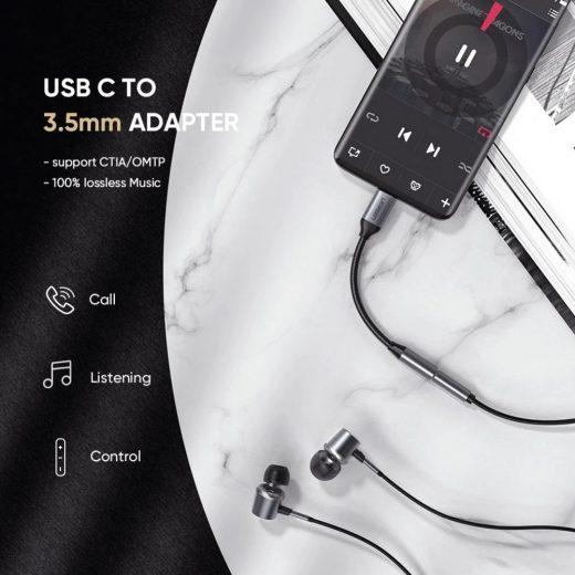 UGREEN Audio Adapter USB-C - 3,5mm Jack - 10 cm