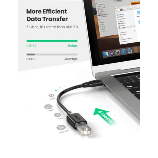 UGREEN USB OTG adapter USB-C (apa) - USB 3.0 (anya) - 15cm