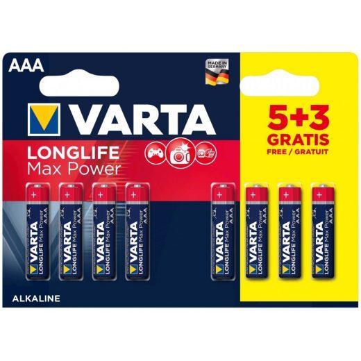 Varta Longlife Max Power AAA Mikro Elem - 8 db