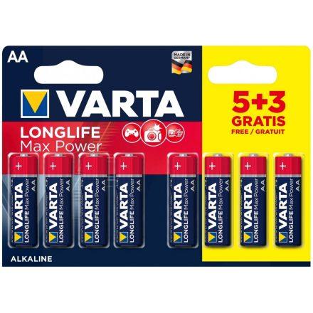 Varta Longlife Max Power AA Ceruza Elem - 8 db