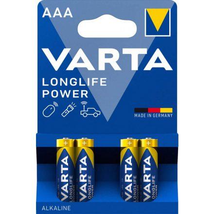 Varta Longlife Power AAA Mikro Elem - 4 db