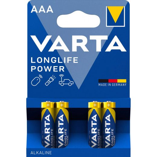 Varta Longlife Power AAA Mikro Elem - 4 db