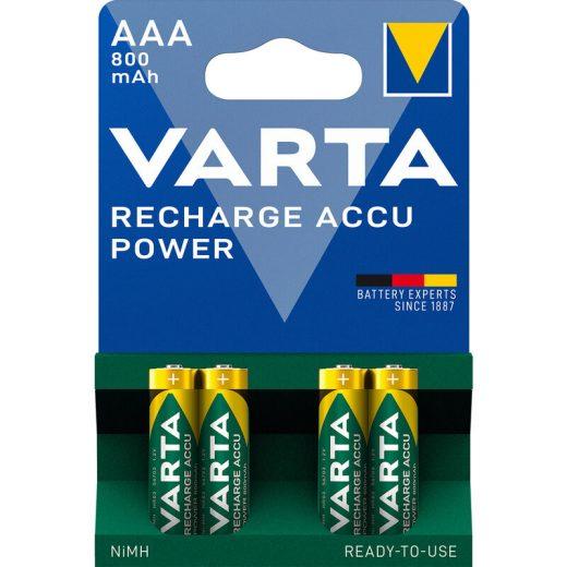 Varta Power AAA Mikro 800mAh akkumulátor - 4 db