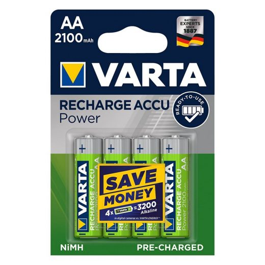 Varta Power AA 2100 mAh NiMH akkumulátor - 4 db