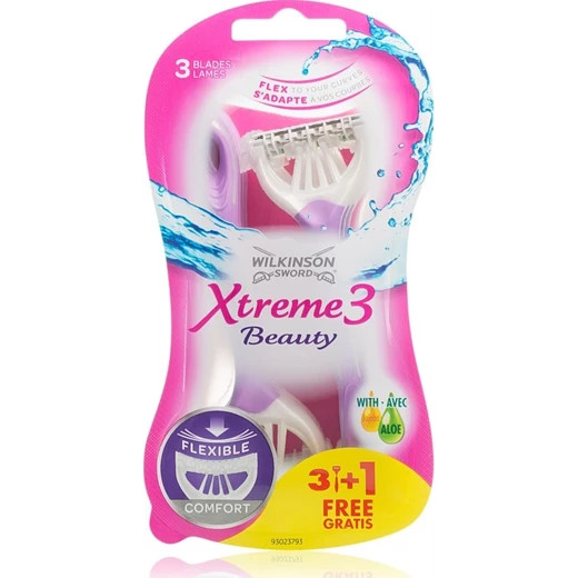 Wilkinson Xtreme3 Beauty eldobható borotva 3+1
