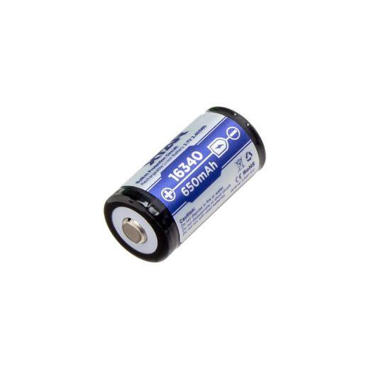 Xtar 16340 3,7V 650 mAh védett Li-Ion akkumulátor