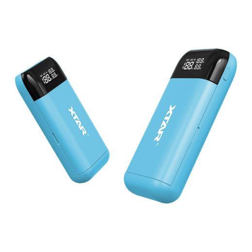Xtar PB2S - Li-Ion Akkumulátor Töltő és Powerbank - Kék