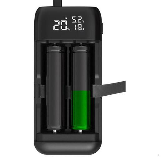 Xtar PB2S - Li-Ion Akkumulátor Töltő és Powerbank - Fekete