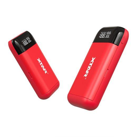 Xtar PB2S - Li-Ion Akkumulátor Töltő és Powerbank - Piros